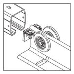 Gleitrollensystem fuer freitragende Schiebetore-21a7fceb