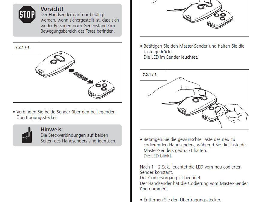 Programmierung Marantec Handsender